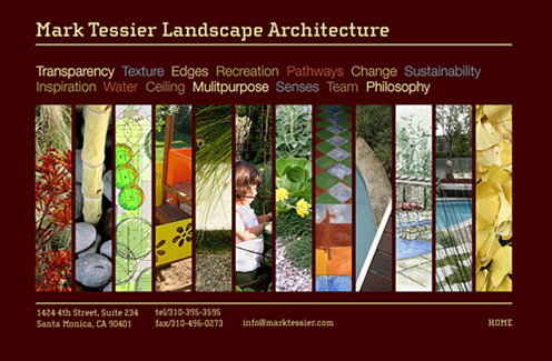 Mark Tessier Landscape Design Web Page