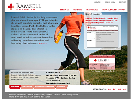 Ramsell Public Health Rx Website