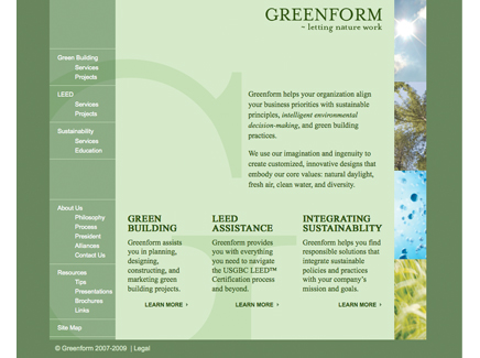 Greenform Website